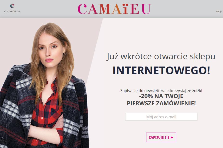 Rabat -20% na pierwsze zamówienie w sklepie internetowym @ Camaieu