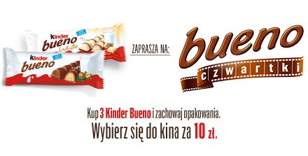 Kup 3 Kinder Bueno i odbierz bilet do kina za 10zł!