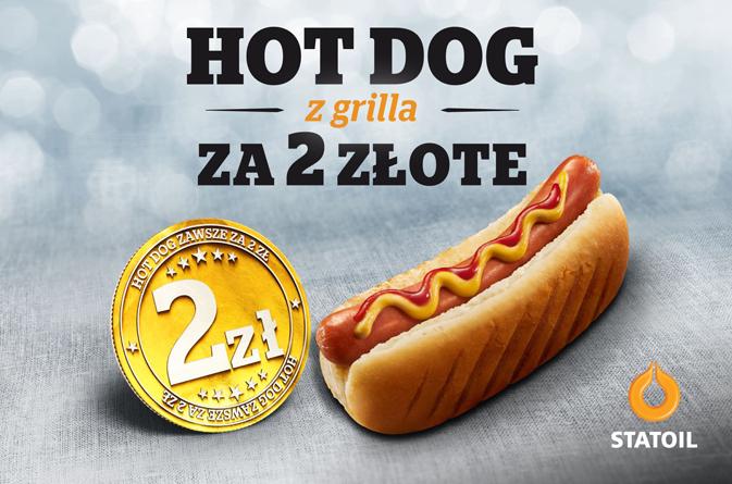 Hot Dog z grilla za 2 zł @ Statoil