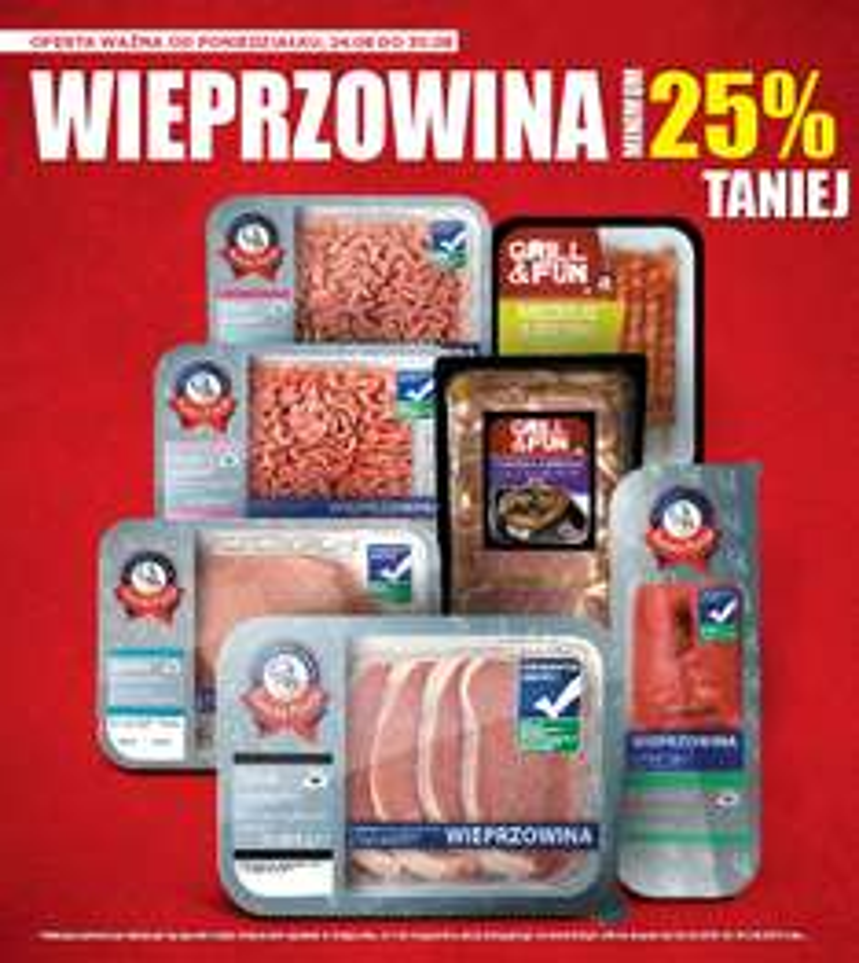 Mięso wieprzowe taniej o minimum 25% @ Lidl