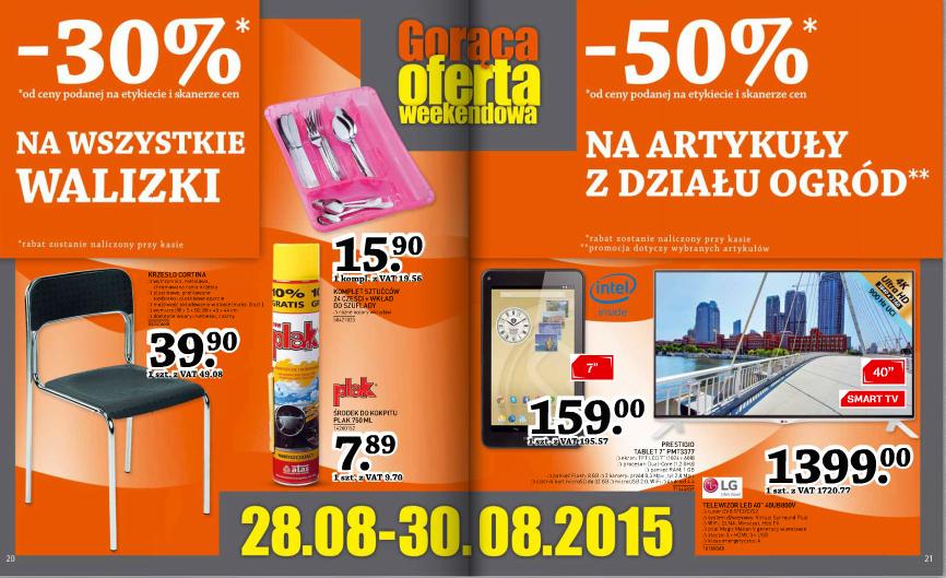 Artykuły z działu ogród - 50% oraz walizki -30% @ Selgros