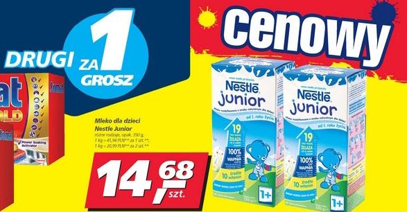 TYLKO DO JUTRA Mleko dla dzieci Nestle Junior 2 opakowania za 14,69zł @ Real