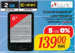 Czytniki: ONYX C65 lub Lark Freebook 6' za 139zł @ Carrefour