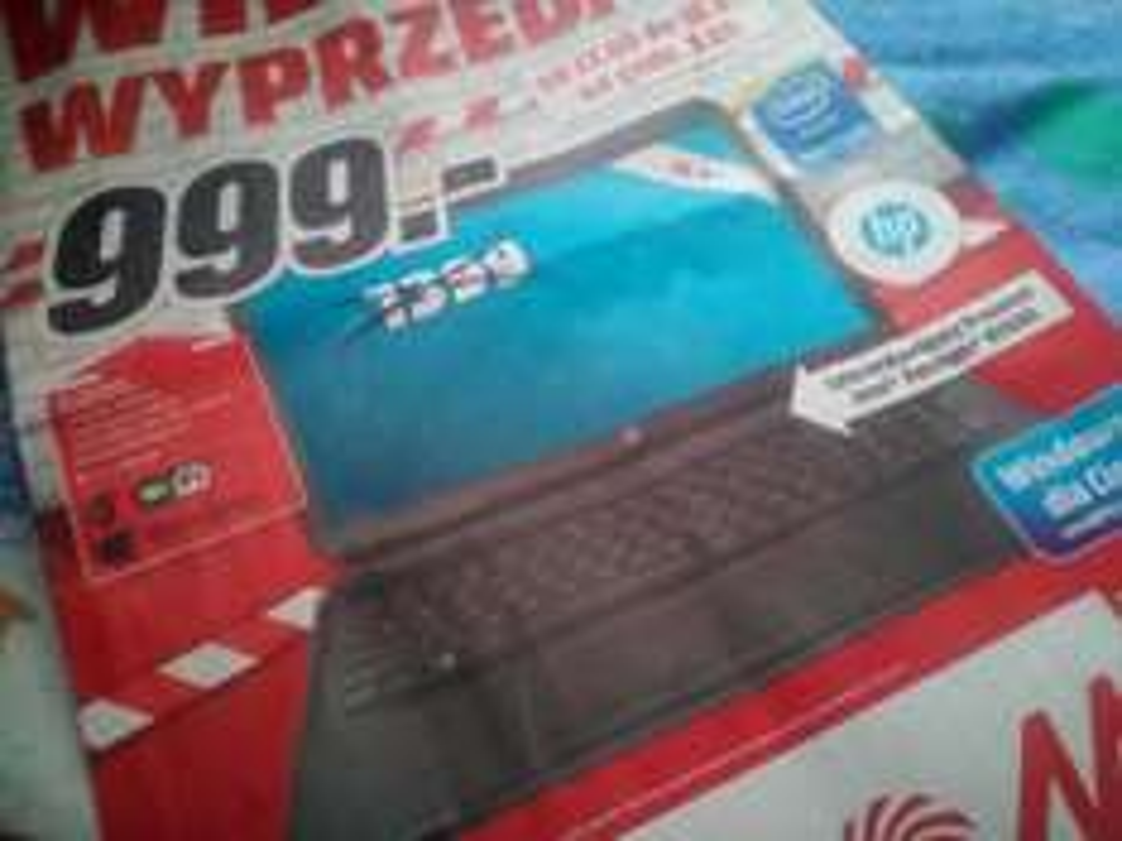 Laptop HP 250 Quad (Intel Penium N3540, 4GB ram, 500GB dysk, Windows 8.1/10) za 999zł @ Media Markt