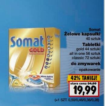 Żelowe kapsułki/ tabletki do zmywarek Somat w cenie 19,99zł @ Kaufland