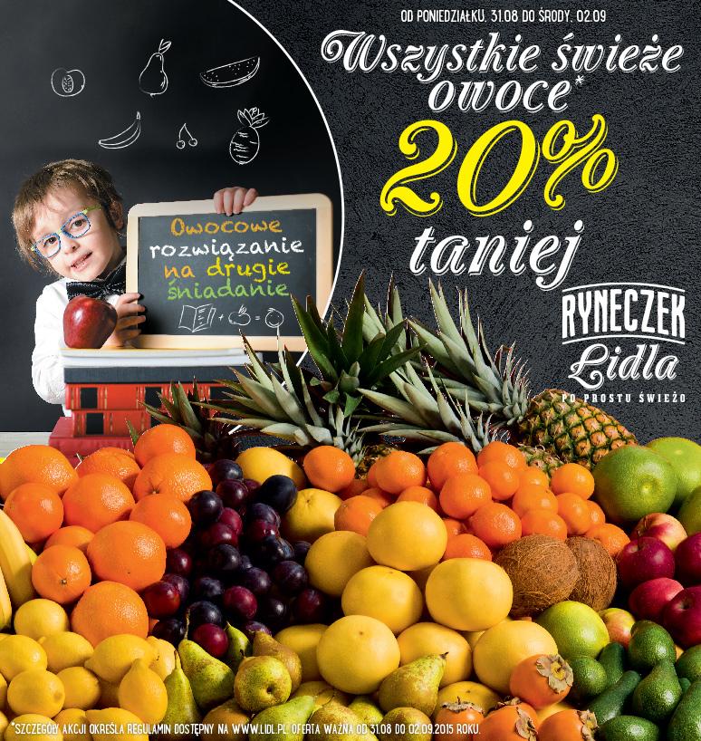 Wszystkie świeże owoce taniej o 20% @ Lidl