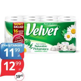 Papier toaletowy Velvet, 16 rolek za 12,99zł @ Tesco