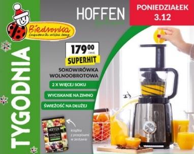Wyciskarka wolnoobrotowa Hoffen w Biedronce Pepper.pl