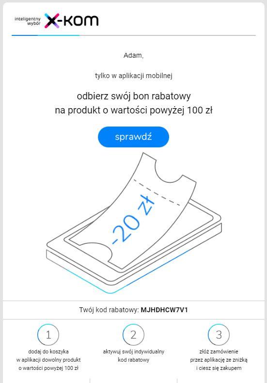 ae4809d6adac02 X-Kom - Rozsyła Bony rabatowe -20zł na MWZ 100zł - Pepper.pl