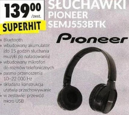 28fe4ff74283 Pioneer SE-MJ553BT-K - bezprzewodowe słuchawki nauszne   Biedronka -  Pepper.pl