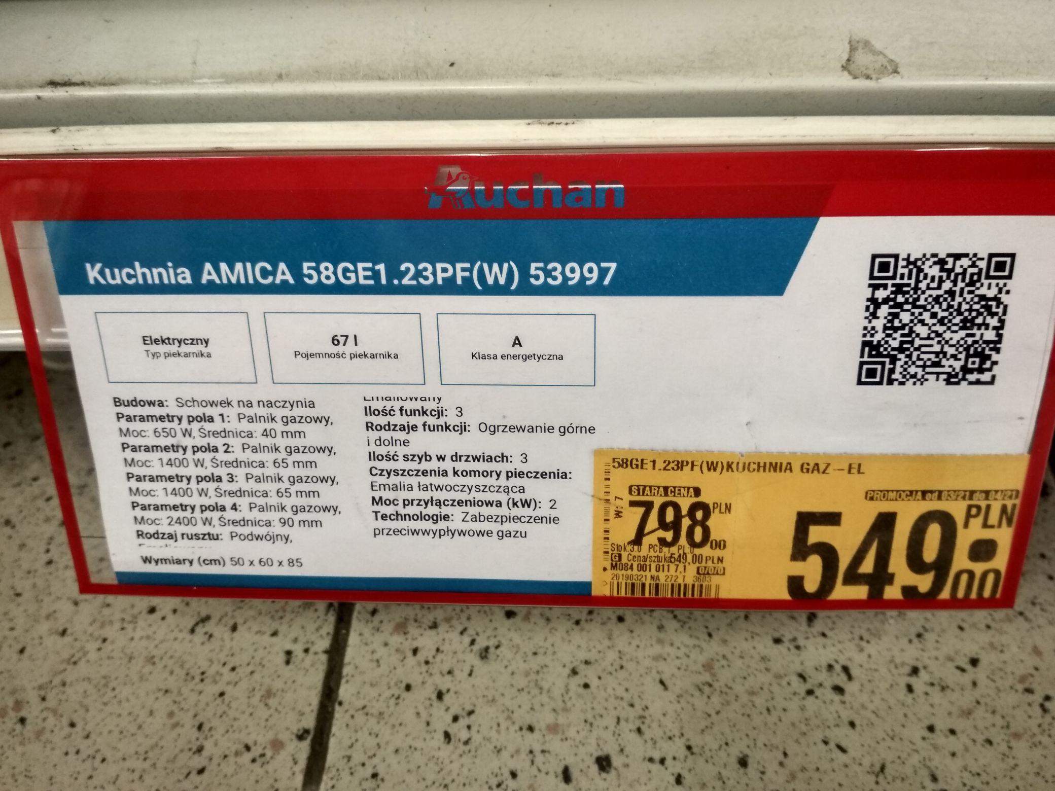 Kuchnia Amica 58ge1 23 Auchan M1 Zabrze Pepper Pl