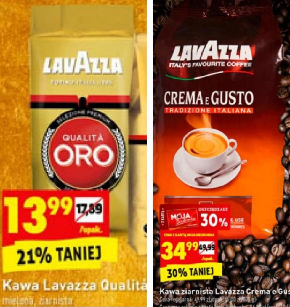 Kawa Lavazza Qualita Oro Ziarnista Mielona 250g 13 99zl