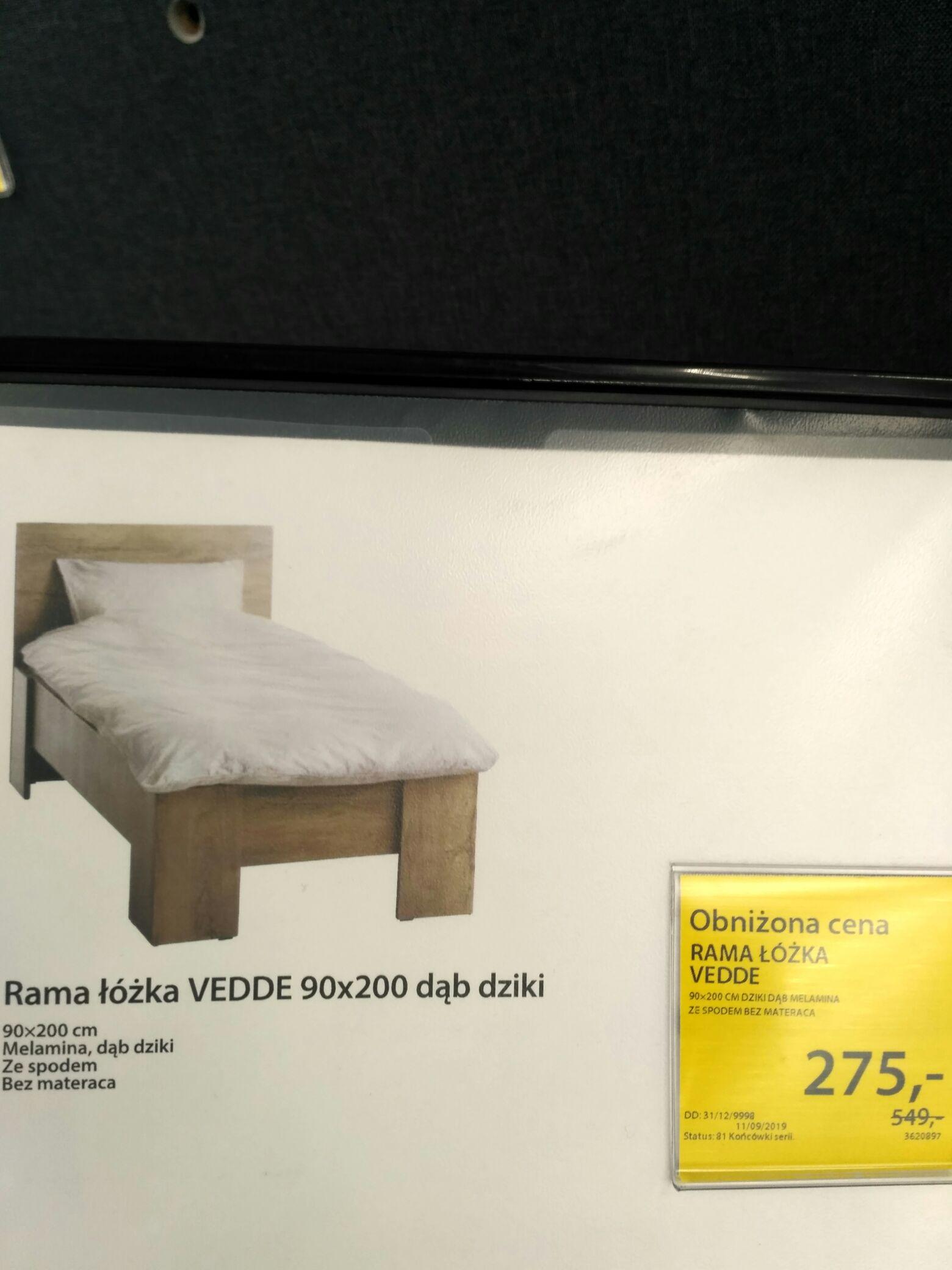 Rama łóżka Vedde 90x200 Ze Stelażem Jysk Kraków Zakopianka