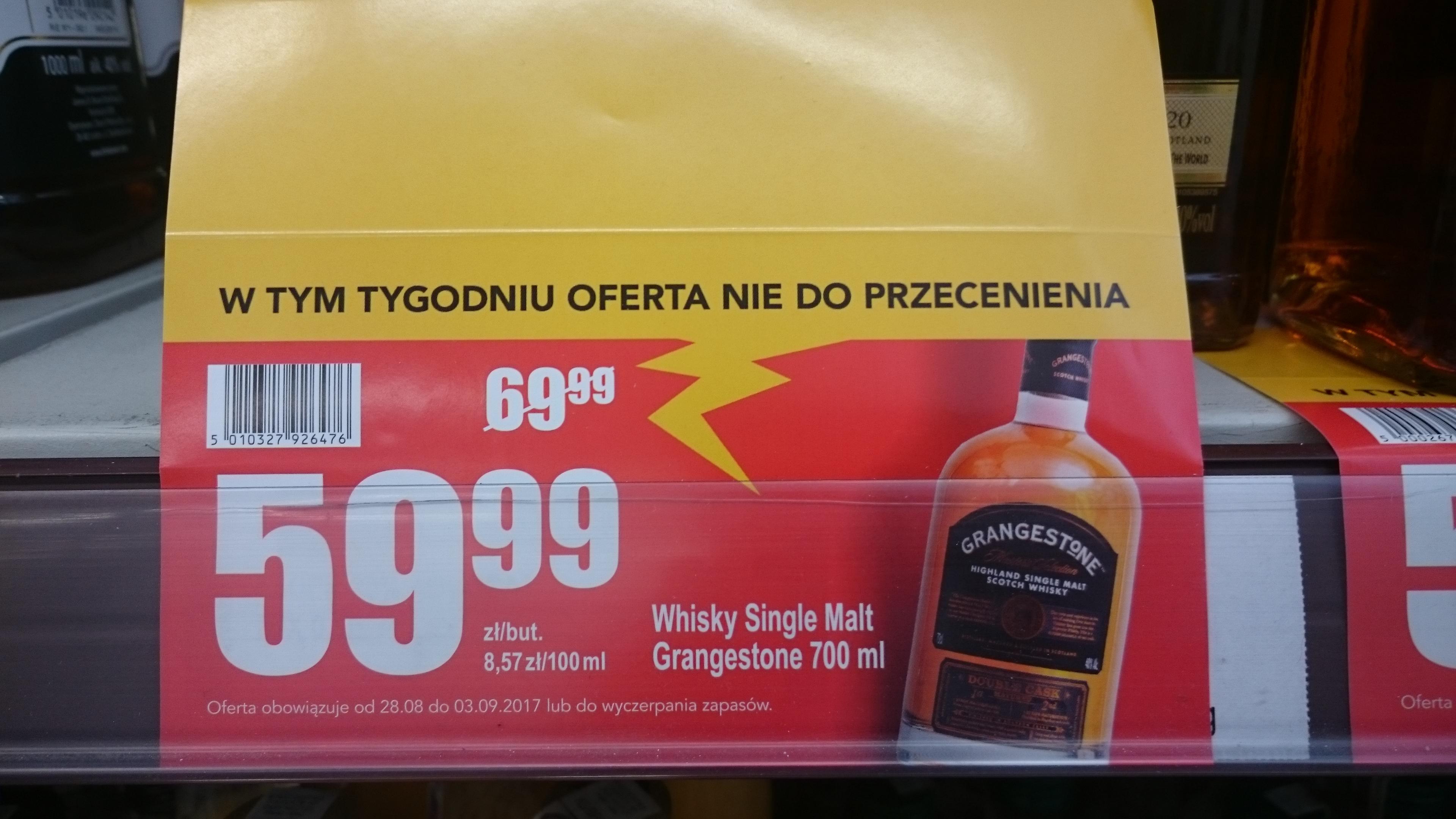 whisky single malt grangestone najtańszy single malt na rynku