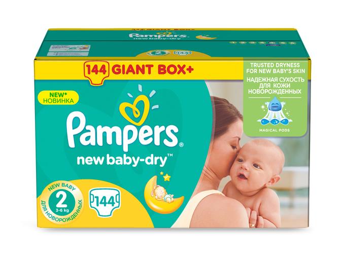 Pieluszki Pampers New Baby Dry Rozmiar 2 144szt Za 49