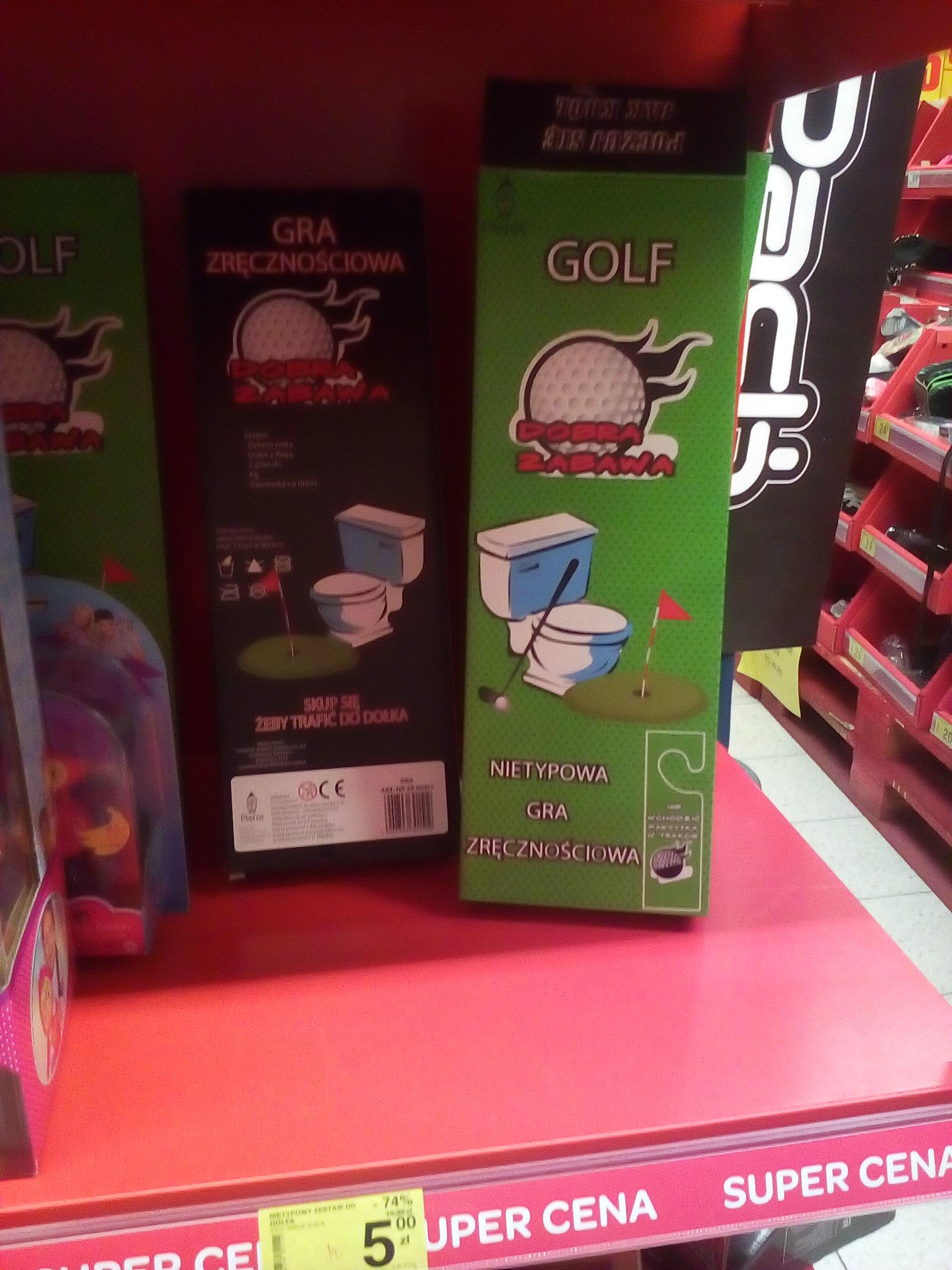 Zestaw do gry w WC mini golfa Carrefour