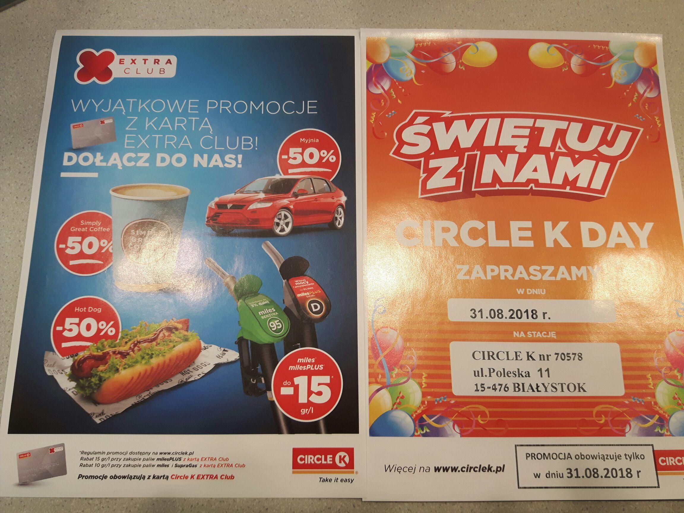 Promocje na Circle K Białystok Poleska