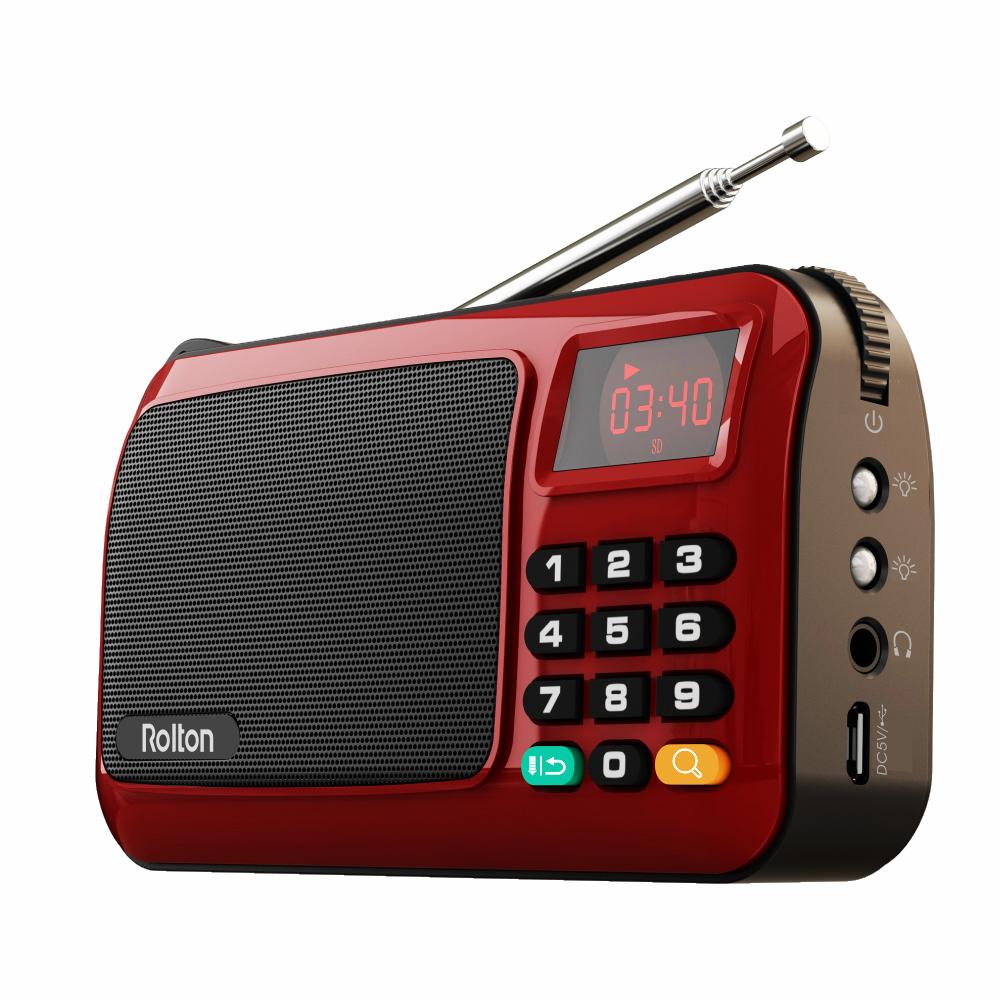 Radio turystyczne Rolton W405 z akumulatorkiem, latarka, czytnik TF