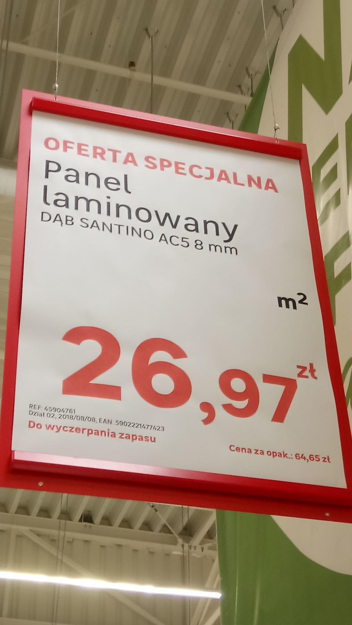 Panel Laminowany Dąb Santino AC5 8mm Leroy-Merlin