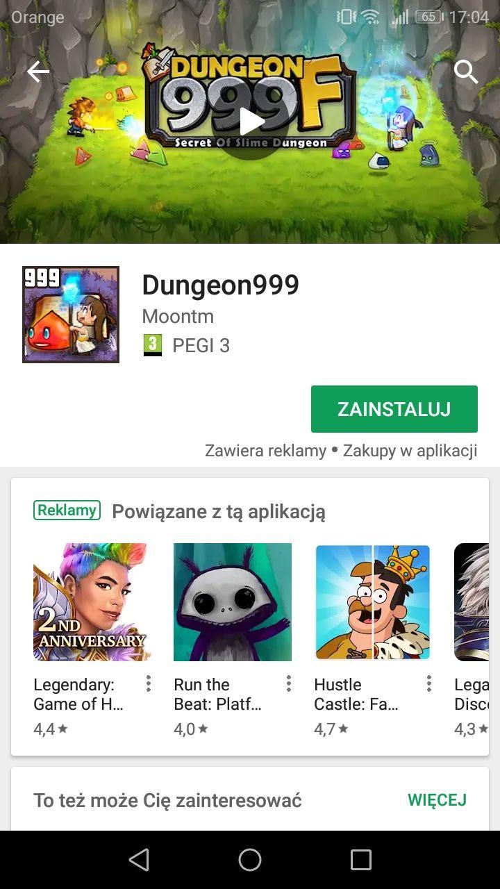 Dungeon999 ponownie za darmo na Google Play