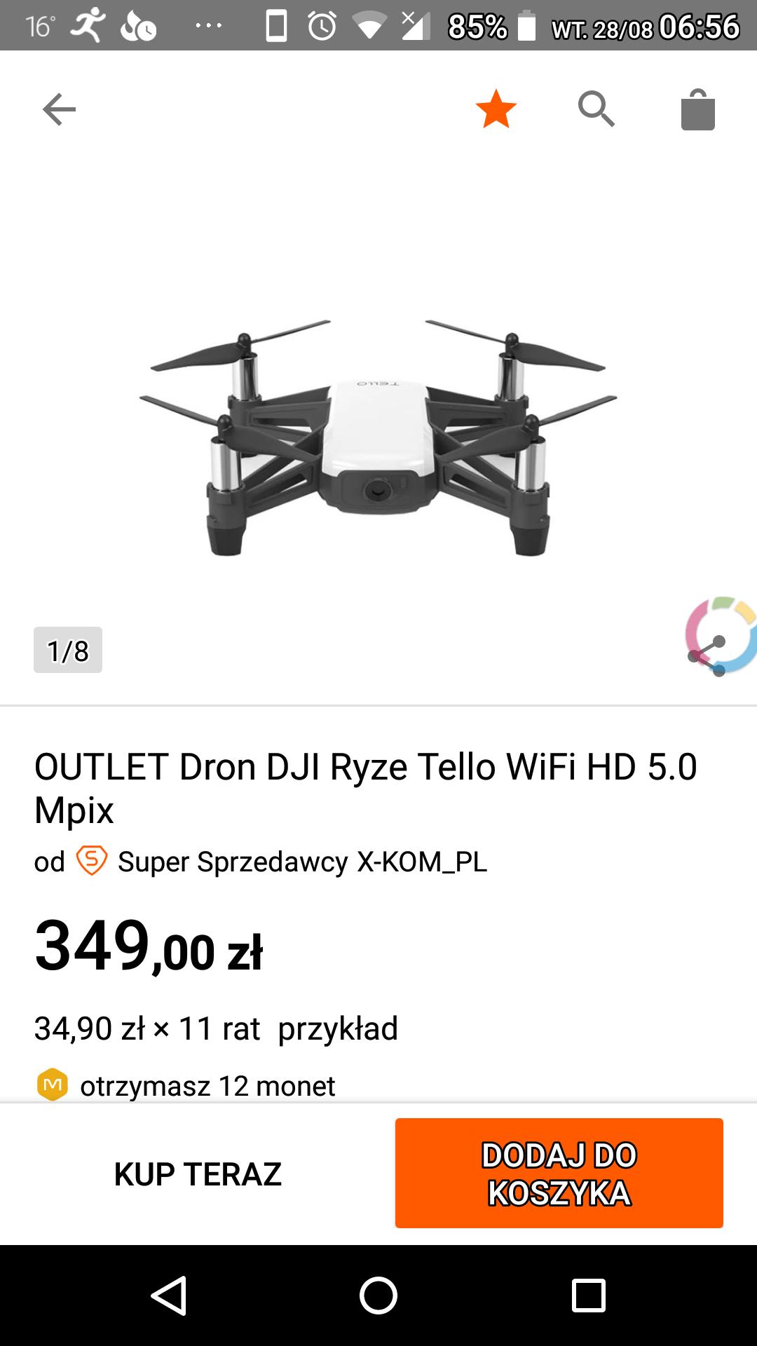 Dron DJI Ryze Tello - X-Kom outlet allegro