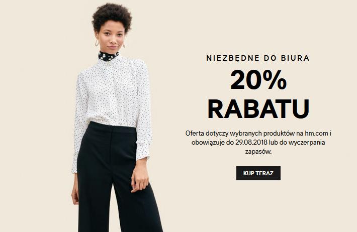 20% rabatu na wybrane produkty z kolekcji damskiej @ H&M