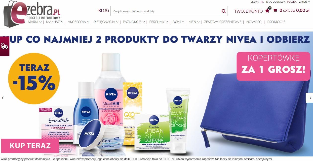 Kup 2 produkty i dobierz Kopertówkę Nivea za 1 grosz