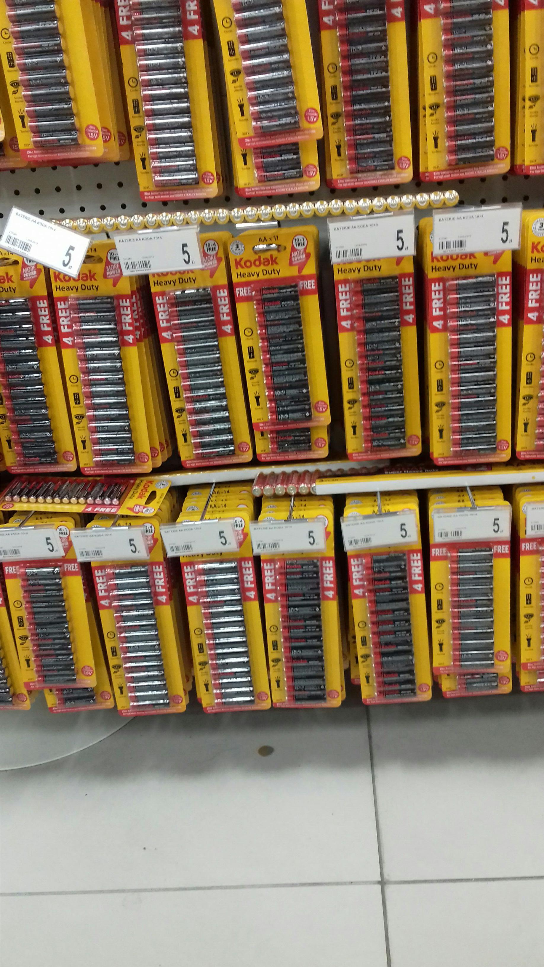 Baterie AAA i AA 14 sztuk za 5zl w sklepie dealz  w king kros poznań
