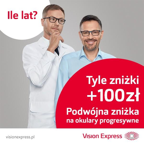 Ile lat, tyle zniżki + 100zł @ Vision Express