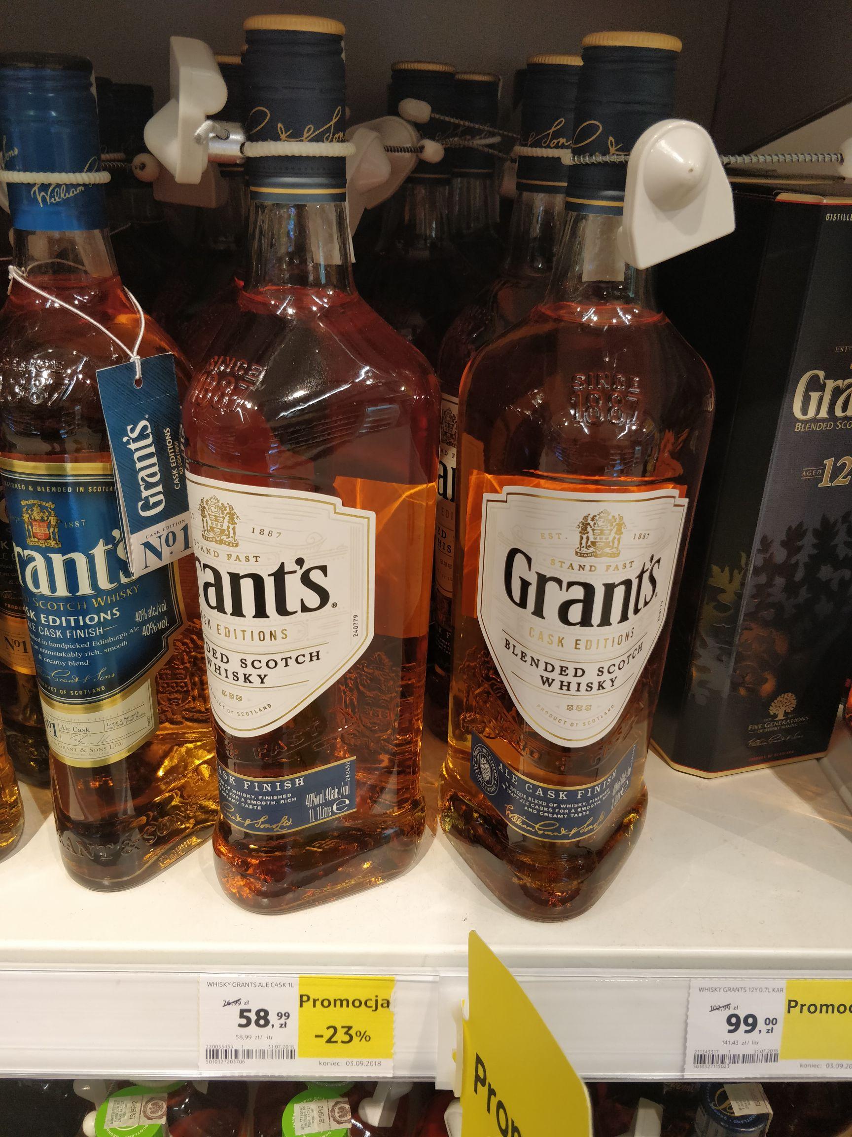 Grants Ale Cask biały 1l Tesco