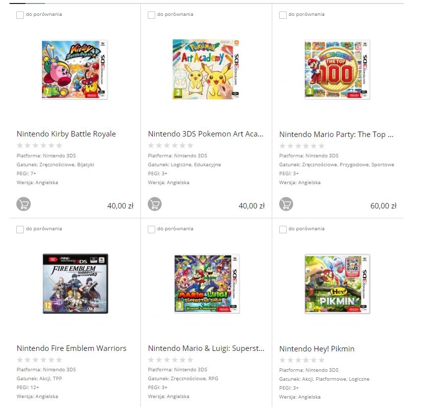Wyprzedaż gier na Nintendo 3DS np. Kirby - 40zł, Fire Emblem 60zł, Pokemon Moon 85zł i inne @ X-Kom