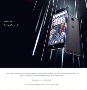 OnePlus 3 (5.5 1080p Amoled, Snapdragon 820, 6GB RAM, 64GB pamięci, NFC, 16MP) @ Geekbuying