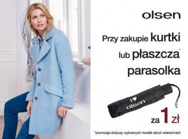 Parasolka za 1zł przy zakupie kurtki lub płaszcza @ Olsen