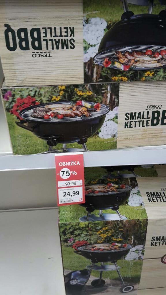 TESCO Piła, grill Small Kettle BBQ (okrągły z pokrywą)
