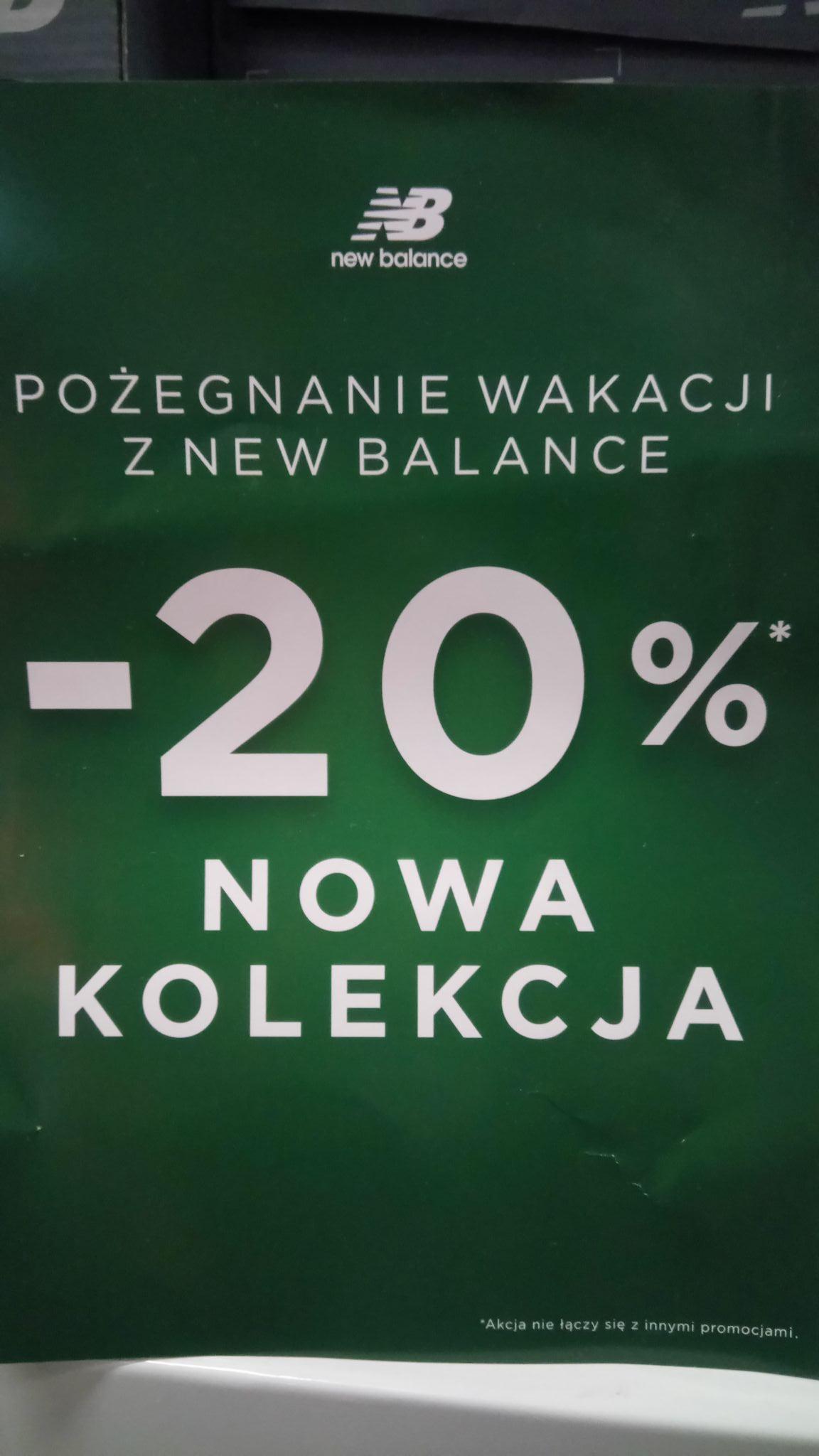 -20% od ceny regularnej na nową kolekcję w sklepach New Balance 31.08-02.09