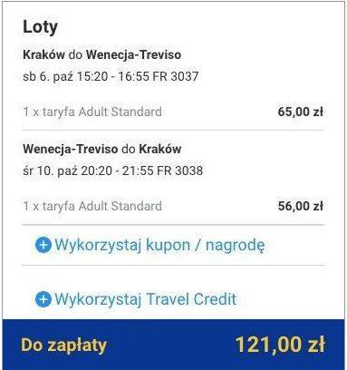 Tanie loty do Wenecji 121 zł w obie strony KRK Ryanair