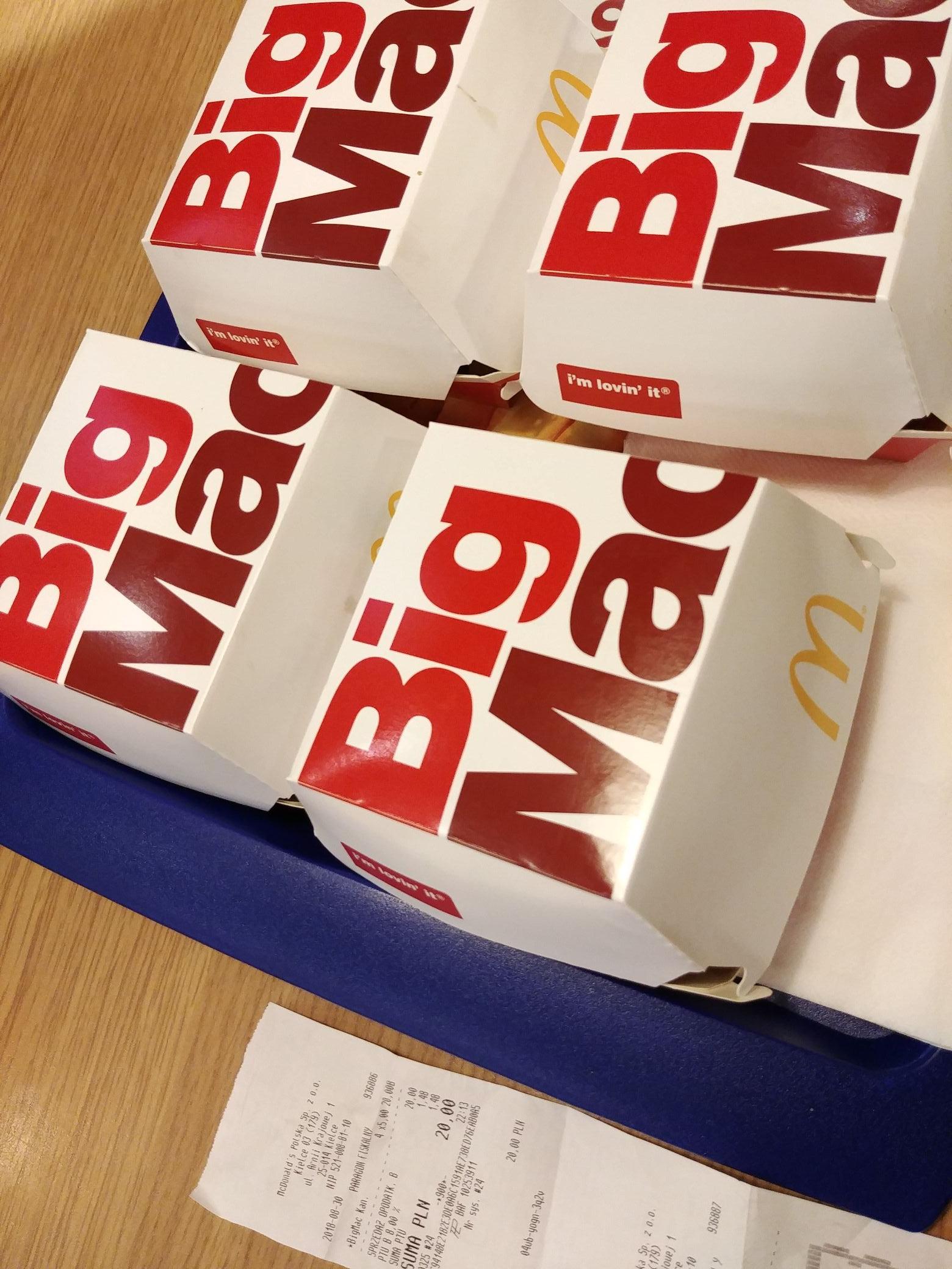 4x Big Mac w MC Donalds