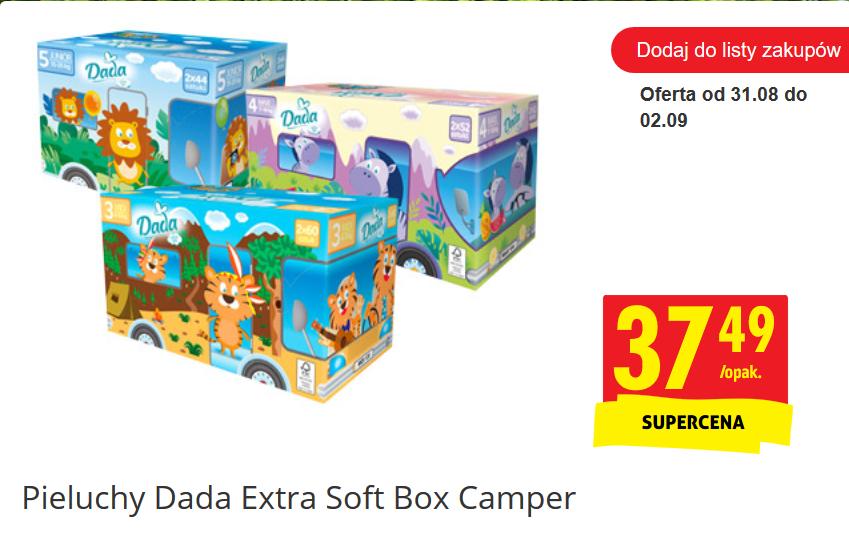 Pieluszki Dada Extra Soft Box Camper za 37,49zł @ Biedronka