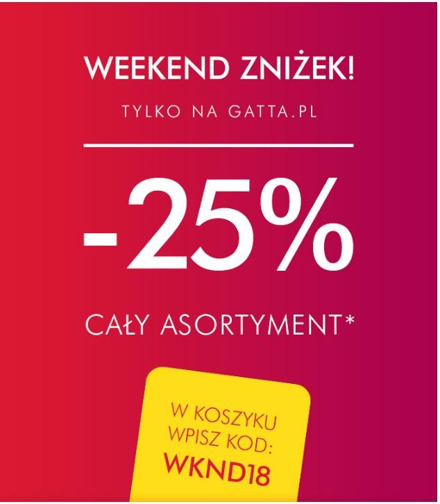 Gatta -25% na cały asortyment (tylko online)