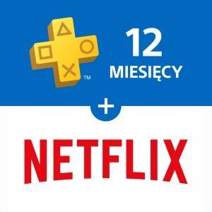 12 miesięcy PLAYSTATION plus + Netflix