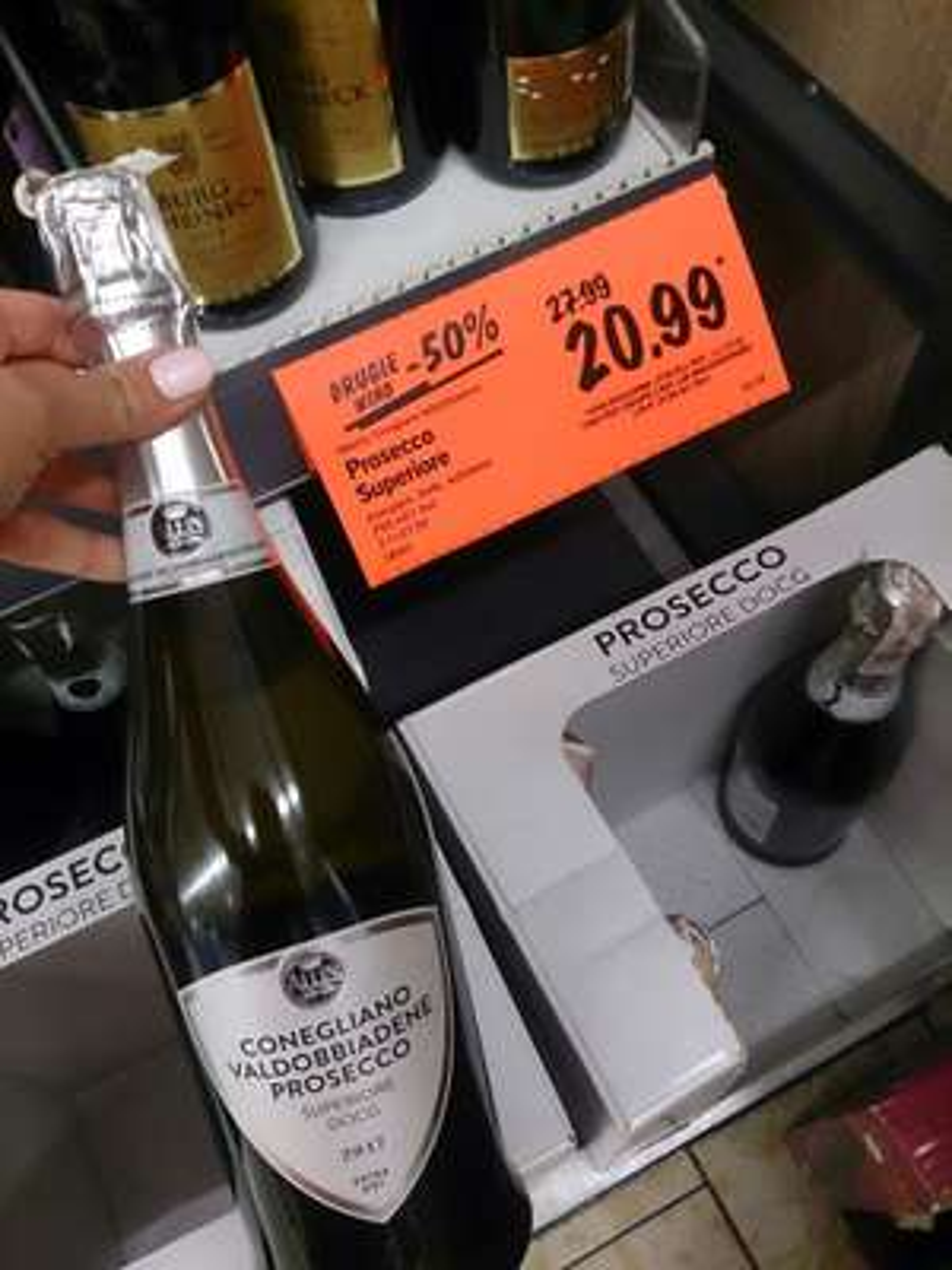 Prosecco Superiore drugie -50% w Lidlu (wino musujące)