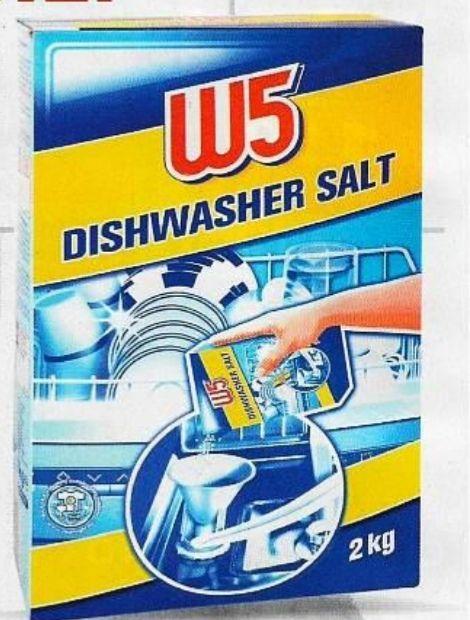 Sól do zmywarki 2kg W5. 2 sztuki w cenie 1 Lidl