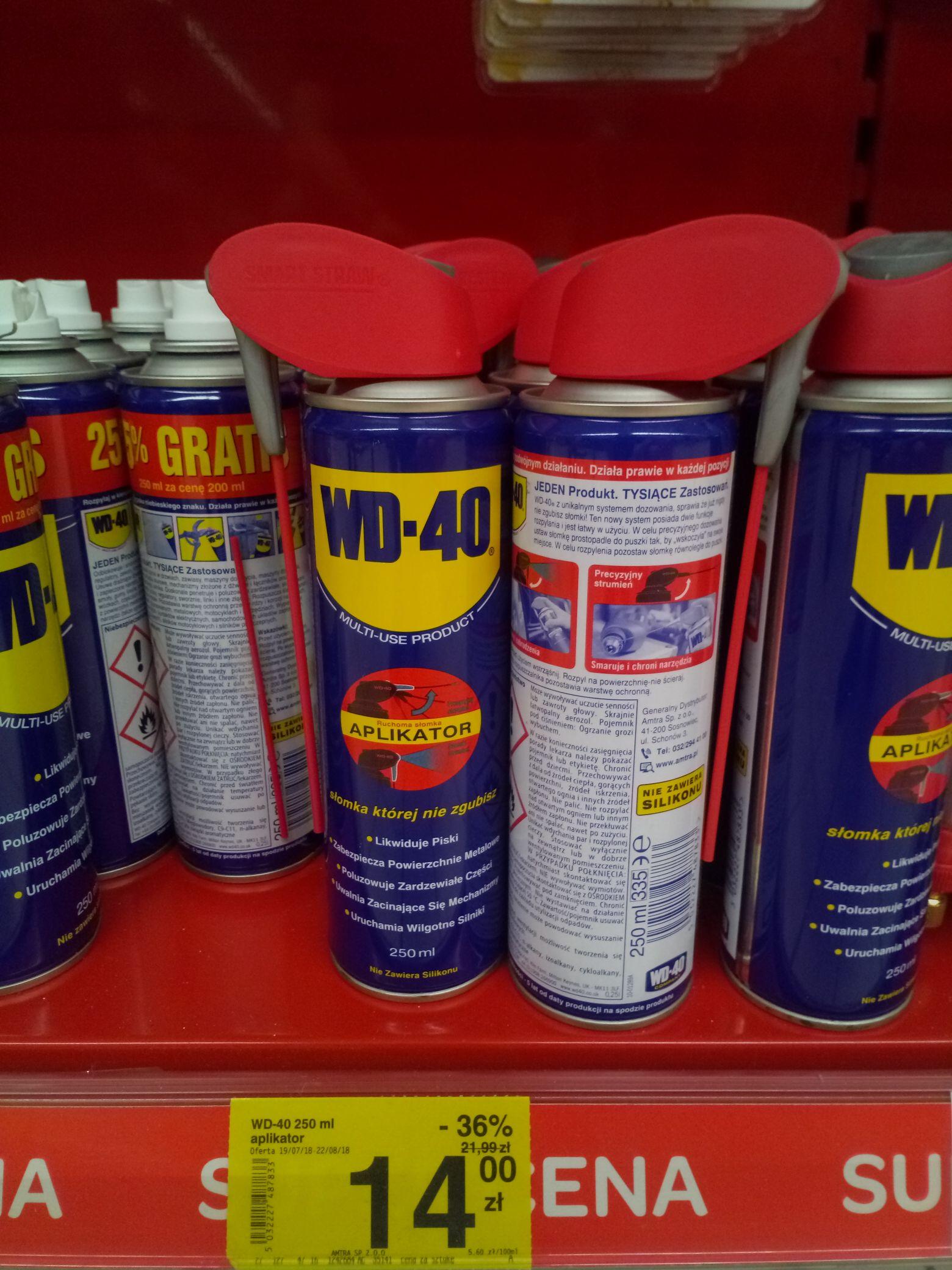 Spray Wd40 smar penetrująco czyszczący carrefour białystok