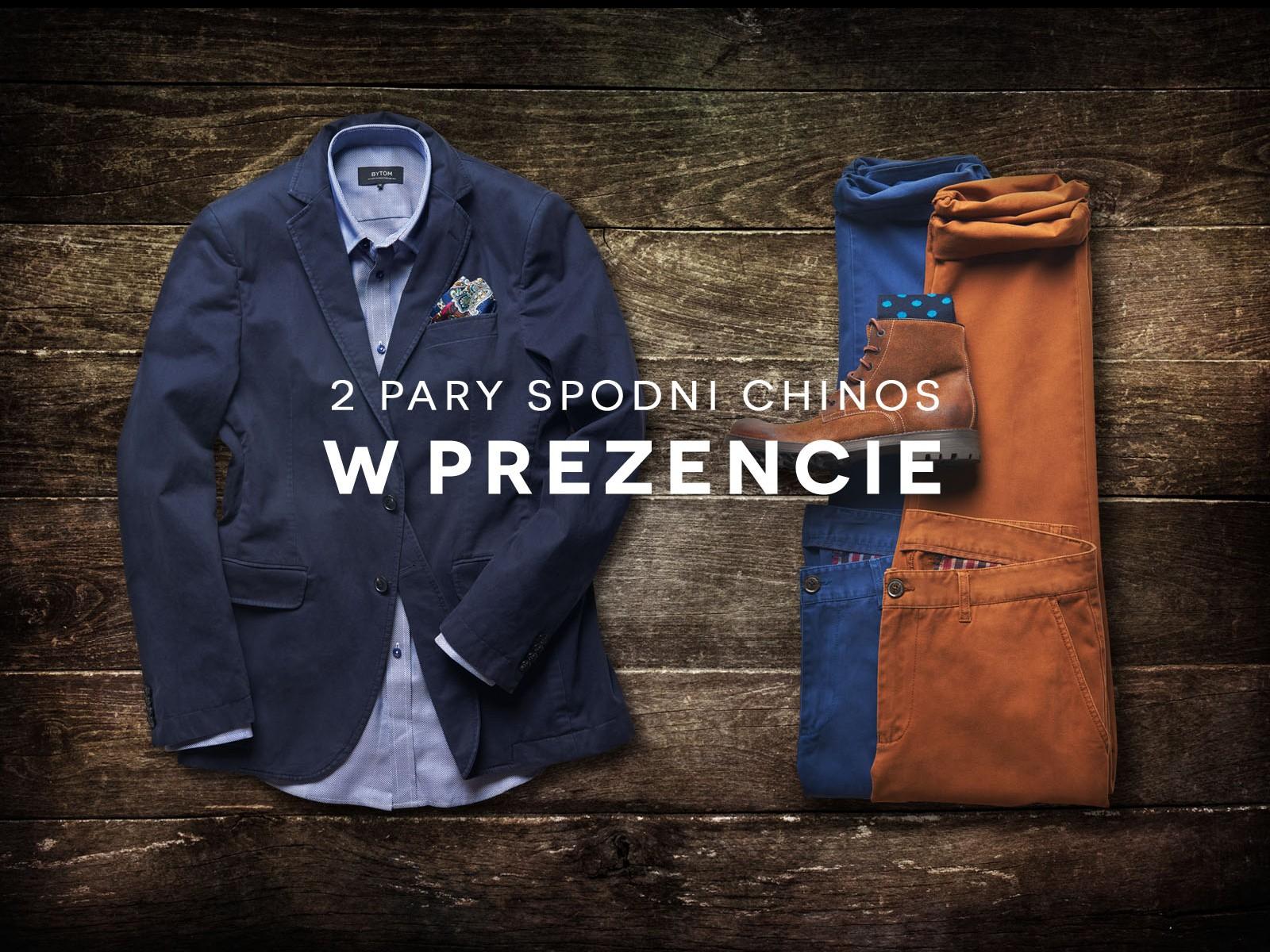 2 pary spodni chinos GRATIS do zakupów @ Bytom