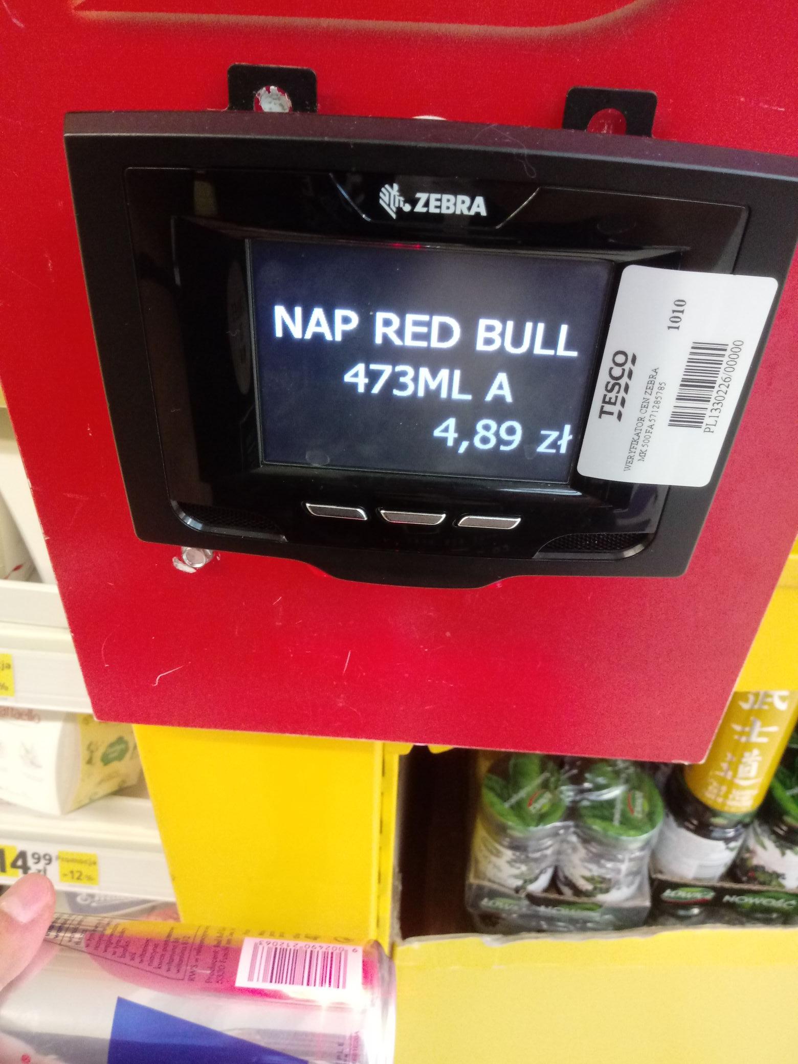 Red Bull przecena Tesco Lubartów