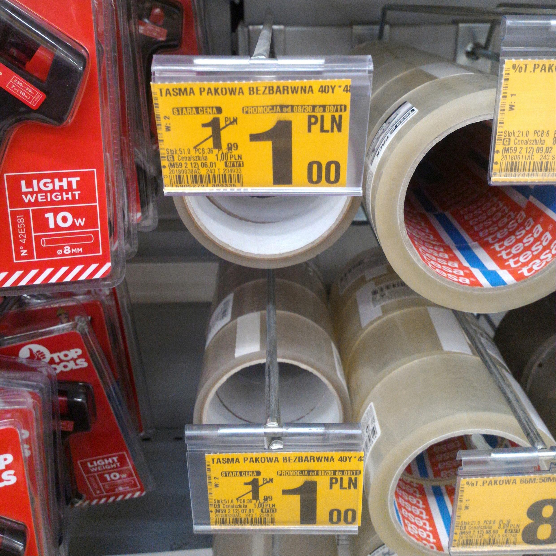 Taśma pakowa przezroczysta lub brązowa 37m @Auchan