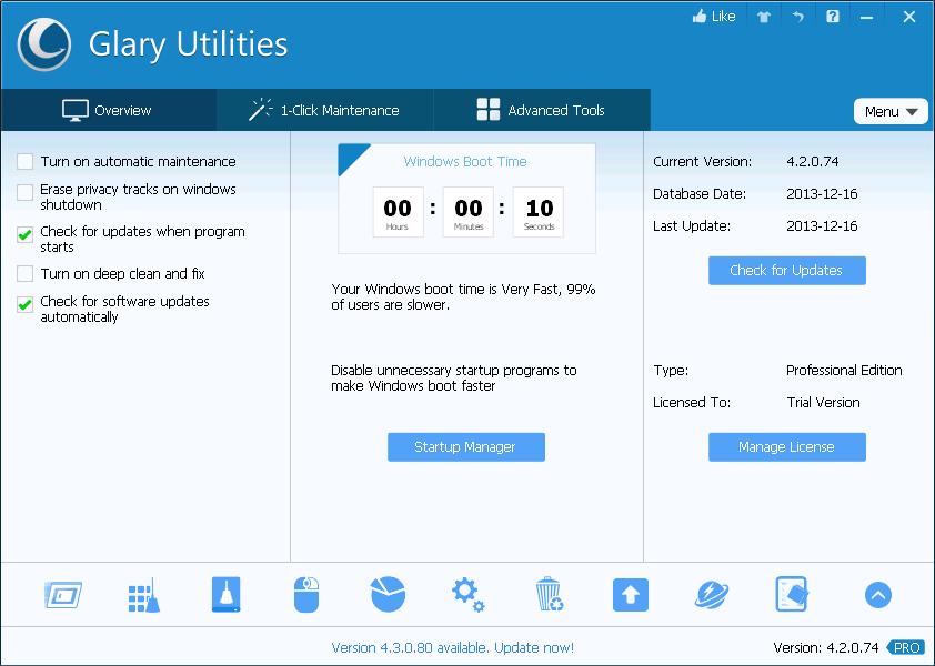 [SharewareOnSale] Glary Utilities Pro licencja na rok - do optymalizacji kompa