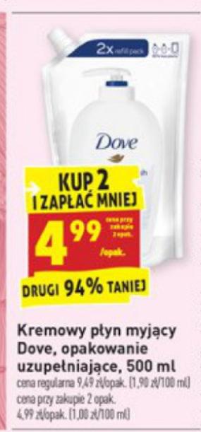 Mydło w płynie Dove 500ml - 4.99 zł za sztukę przy zakupie 2 - @Biedronka