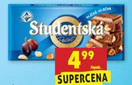 Czekolada Studentska w Biedronce po 4,99zł