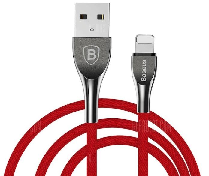 Różne rodzaje kabli (Baseus Lightning, Micro-USB UGREEN Micro-USB, Type C) z JoyBuy i Gearbest